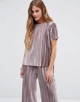 Glamorous Plisse T-Shirt In Luxury Velvet