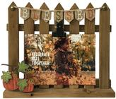 """Celebrate Fall Together """"Blessed"""" Fence 4"""" x 6"""" Photo Clip Frame"""
