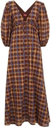 STAUD Plaid Amaretti Maxi Dress