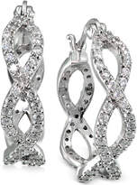 Giani Bernini Cubic Zirconia Infinity Hoop Earrings in Sterling Silver, Only at Macy's