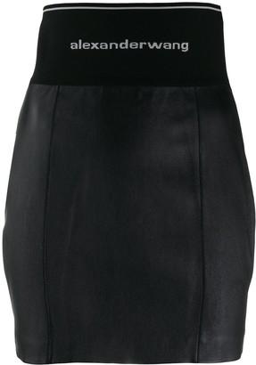 Alexander Wang Logo Waistband Skirt