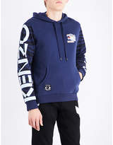Kenzo Badge-patch Cotton-jersey Hoody