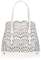 Alaia White leather laser-cut mini tote