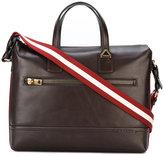 Bally striped strap laptop bag - men - Cotton/Leather - One Size