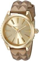 Diesel Women's 'Nuki' Quartz Stainless Steel and Leather Automatic Watch, Color:Gold-Toned (Model: DZ5516)