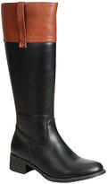 Refresh Black & Cognac Contrast Alto Boot