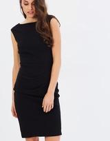 Forcast Alyssa Pleat Front Dress