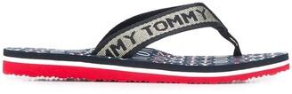 Tommy Hilfiger Logo Strap Flip Flops