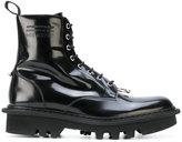 Neil Barrett pierced lace-up boots - men - Calf Leather/Leather/rubber - 40