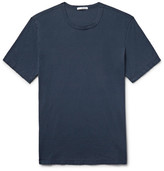 James Perse Combed Cotton-jersey T-shirt - Storm blue