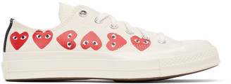 Comme des Garcons Off-White Converse Edition Multiple Hearts Chuck 70 Low Sneakers