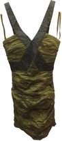 BCBGMAXAZRIA Khaki Polyester Dress