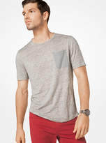 Michael Kors Patch Pocket Linen T-Shirt