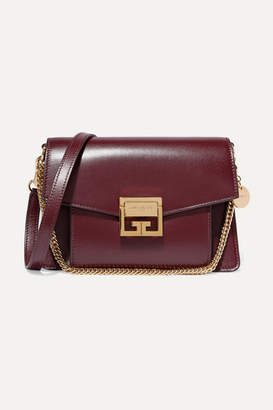 Givenchy Gv3 Small Leather Shoulder Bag - Dark purple
