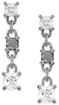 Judith Jack Hematite & Sterling Silver Link Drop Earrings