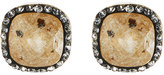 Lydell NYC Crystal Cushion Stud Earrings