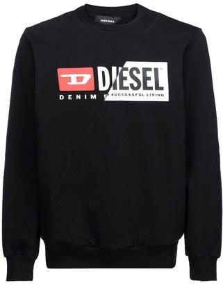 Diesel Spliced Logo Sweatshirt