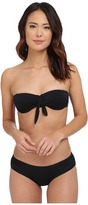 Michael Kors Draped Solids Bandeau Bra Top w/ Hipster Bottom Set