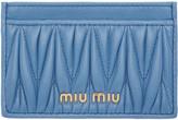 Miu Miu Blue Matelassé Card Holder