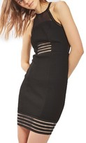 Topshop Women's Illusion Mesh Body-Con Dress