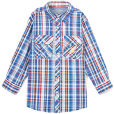 U.S. Polo Assn. Placid Blue Plaid Button-Up - Girls