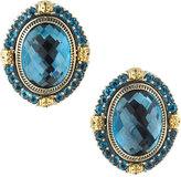 Konstantino Oval London Blue Topaz Clip Earrings
