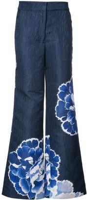 Josie Natori wide leg trousers