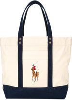 Polo Ralph Lauren embroidered logo shoulder bag - men - Cotton - One Size