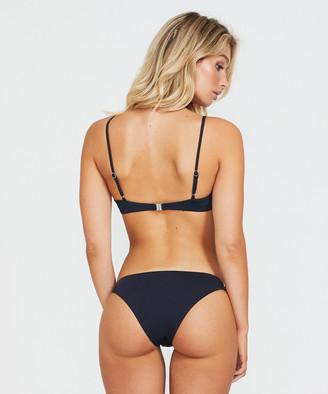 Subtitled Scoop Neck Bikini Top Black