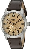 Fossil Men's ME3119 Pilot 54 Automatic Dark Brown Leather Watch