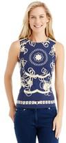 J.Mclaughlin Tania Sleeveless Top in Heraldic Chain