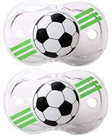 Razbaby Keep-It-Kleen Pacifier - Soccer Ball - 2 Count , 0-36 Months by