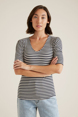 Seed Heritage V Neck Fitted Rib Top