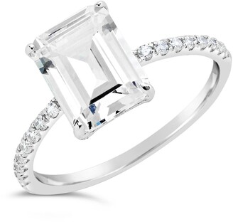 Sterling Forever Sterling Silver Emerald Cut CZ Ring
