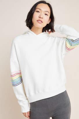 Sundry Rainbow-Striped Hoodie