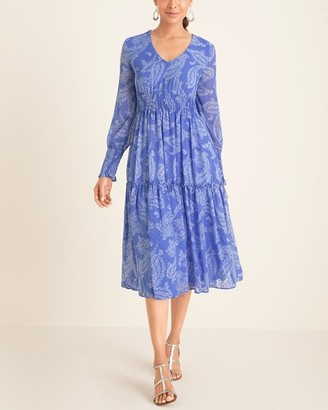 Taylor Smocked Midi Dress