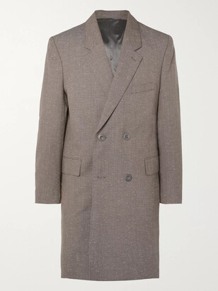 Lemaire Melange Virgin Wool-Blend Double-Breasted Overcoat