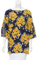 Suno Floral Silk Top w/ Tags