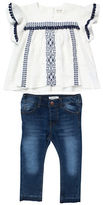 Jessica Simpson Two-Piece Peasant Top and Jeans Set