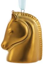 Jonathan Adler Gold Horse Head Ornament
