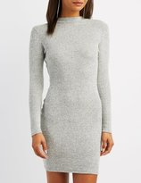 Charlotte Russe Ribbed Knit Bodycon Sweater Dress