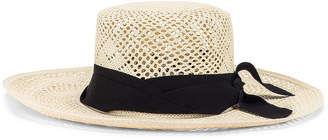 Sensi Studio STUDIO Calado Boater Hat in White & Black | FWRD