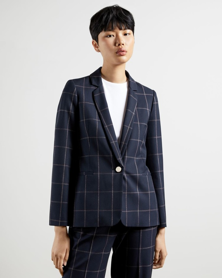 Ted Baker Checked Suit Jacket