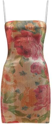 Bec & Bridge Bella Rose Printed Acetate Mini Dress