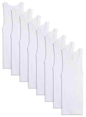 Fruit of the Loom Boys Undershirts White A-Shirts, 5+3 Bonus Pack, Size L