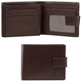 Jeff Banks Brown Leather Debossed Logo Wallet With A Coin Tray