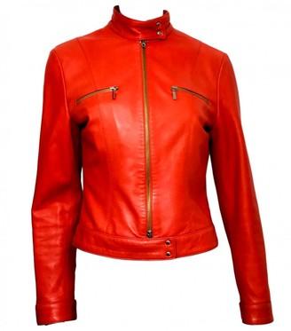 Joseph Orange Leather Jackets