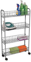 Bed Bath & Beyond 4-Tier Rolling Cart in Silver