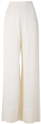 Egrey Knitted Sheer Wide Leg Trousers