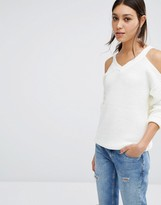 Vero Moda Cold Shoulder Knitted Sweater